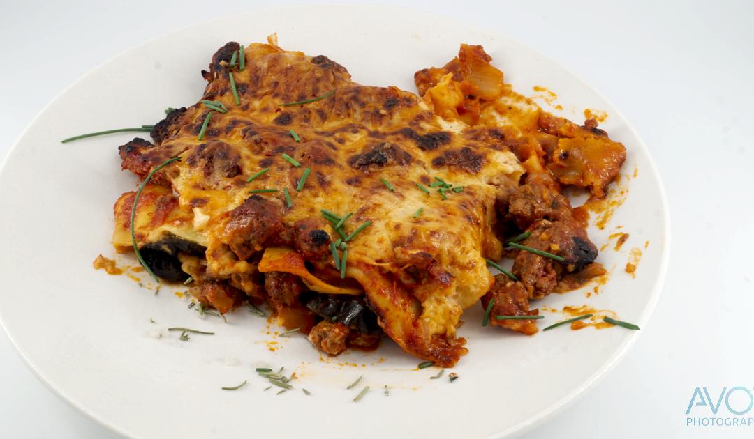 Eggplant lasagna with beef