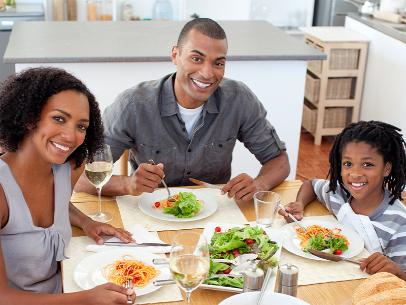 The importance of pasta as part of a balanced diet